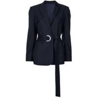Wynn Hamlyn Blazer De Lã Com Cinto - Azul