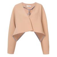 Diane Von Furstenberg Jaqueta Cropped Oversized - Brown