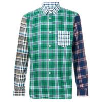 Comme Des Garçons Shirt Boys Camisa Xadrez - Green
