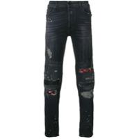 Marcelo Burlon County Of Milan Calça Jeans Biker 'ain' - Cinza