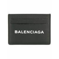 Balenciaga Porta-Cartões De Couro Com Estampa De Logo - Preto