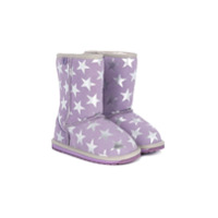 Emu Kids Ankle Boot De Camurça Estampada - Pink & Purple