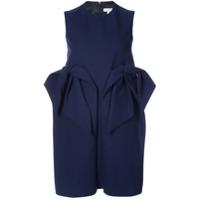 Delpozo Vestido Com Detalhe De Babado - Azul