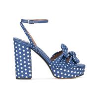 Tabitha Simmons Sandália 'jodie' Com Poás - Azul