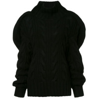 Aalto Oversized Knitted Sweater - Preto