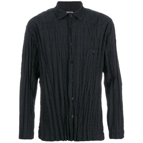 Issey Miyake Camisa com pregas - Preto