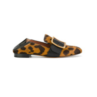 Bally Mocassim Animal Print - Brown