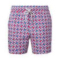 Capricode Shorts De Natação Estampado - Vermelho