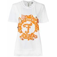Fendi Camiseta Bordada - Branco