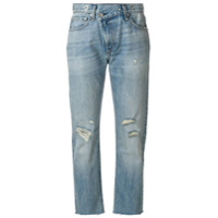 Rag & Bone /jean Calça Jeans Cropped 'wicked' - Azul