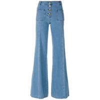 Chloé Calça Jeans Flare - Azul