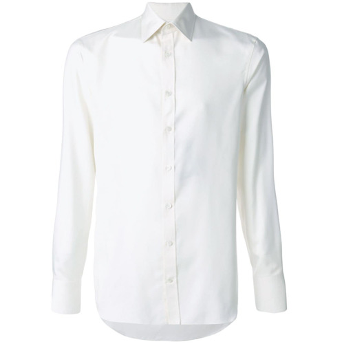 Imagem de Alexander McQueen Camisa slim de seda - Branco