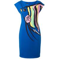 Boutique Moschino Vestido Estampado - Azul