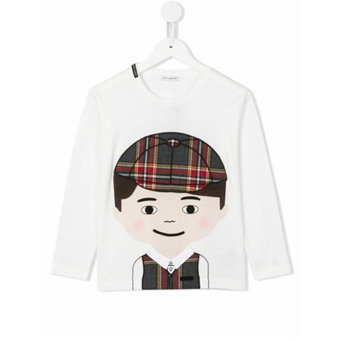 Imagem de Dolce & Gabbana Kids Blusa com aplicação - Branco