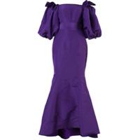 Bambah Vestido De Festa De Seda 'balloon' - Pink & Purple