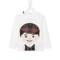Dolce & Gabbana Kids Blusa Com Aplicação - Branco