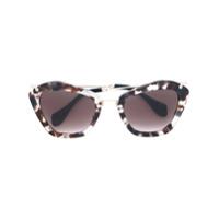 Miu Miu Eyewear Óculos De Sol Oversized - Estampado