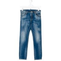 Dsquared2 Kids Calça Jeans Com Efeito Desbotado - Azul