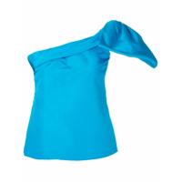 Bambah Blusa De Seda Com Laço - Azul