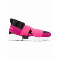 Emilio Pucci Tênis De Couro 'city Up' - Pink & Purple