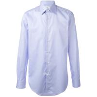 Brioni Camisa Lisa - Azul