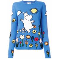 Chinti & Parker Suéter De Cashmere 'moomin' - Azul