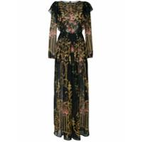 Alberta Ferretti Vestido Longo Floral De Seda - Estampado