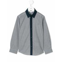 Boss Kids Camisa Com Padronagem - Azul