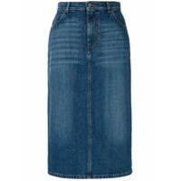 Alexa Chung Saia Lápis Jeans - Azul