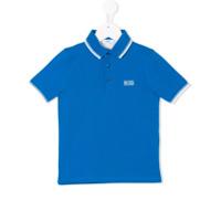 Boss Kids Camisa Polo Mangas Curtas - Azul
