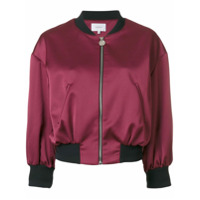 Carven Jaqueta Bomber Cropped - Pink & Purple