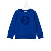 Boss Kids Moletom Com Estampa De Logo - Azul