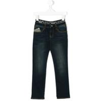 Armani Junior Calça Jeans Slim - Azul