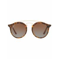 Ray-Ban Óculos De Sol Arredondado - Brown