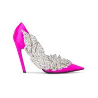 Balenciaga Scarpin 'slash' Com Aplicações - Pink & Purple