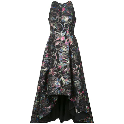 aidan-mattox-vestido-midi-com-bordado-floral-preto
