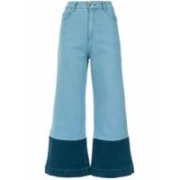 A.brand Calça Jeans Pantacourt - Azul