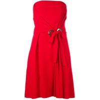 Alberta Ferretti Vestido Tomara Que Caia - Vermelho