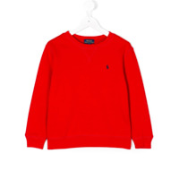 Ralph Lauren Kids Moletom Com Logo - Vermelho
