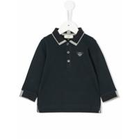 Emporio Armani Kids Camisa Polo Com Contraste - Azul