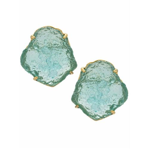 Imagem de A.Brand Par de brincos oversized - Azul