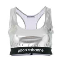 Paco Rabanne Blusa Cropped - Metallic