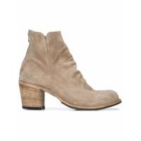 Officine Creative Ankle Boot Salto Bloco De Couro - Neutro