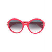 Gucci Eyewear Óculos De Sol Oversized - Vermelho
