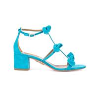 Aquazzura Sandália De Camurça Com Laços - Azul