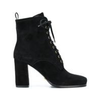 Car Shoe Ankle Boot De Couro - Preto