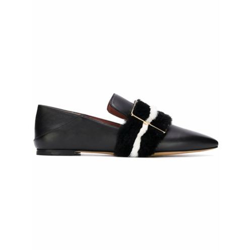 Imagem de Bally pointed toe textured loafers - Preto