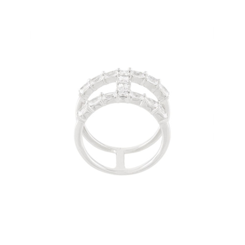Imagem de V Jewellery Anel 'Baguette' de prata - Metallic