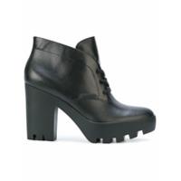 Calvin Klein Jeans Ankle Boot De Couro - Preto