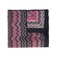 Missoni Poncho Com Padronagem - Pink & Purple